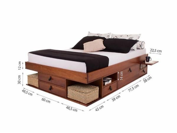 cama queen size bali caramelo apto 182 pinterest quartos artesanato em madeira e moveis. Black Bedroom Furniture Sets. Home Design Ideas