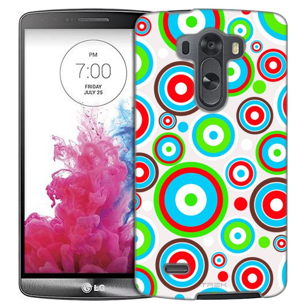LG G3 Colorful Circles on White Slim Case