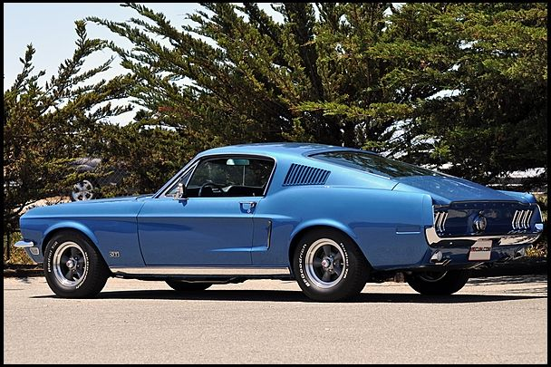 1968 Ford Mustang Gt Fastback 390 320 Hp 4 Speed Mecum Monterey