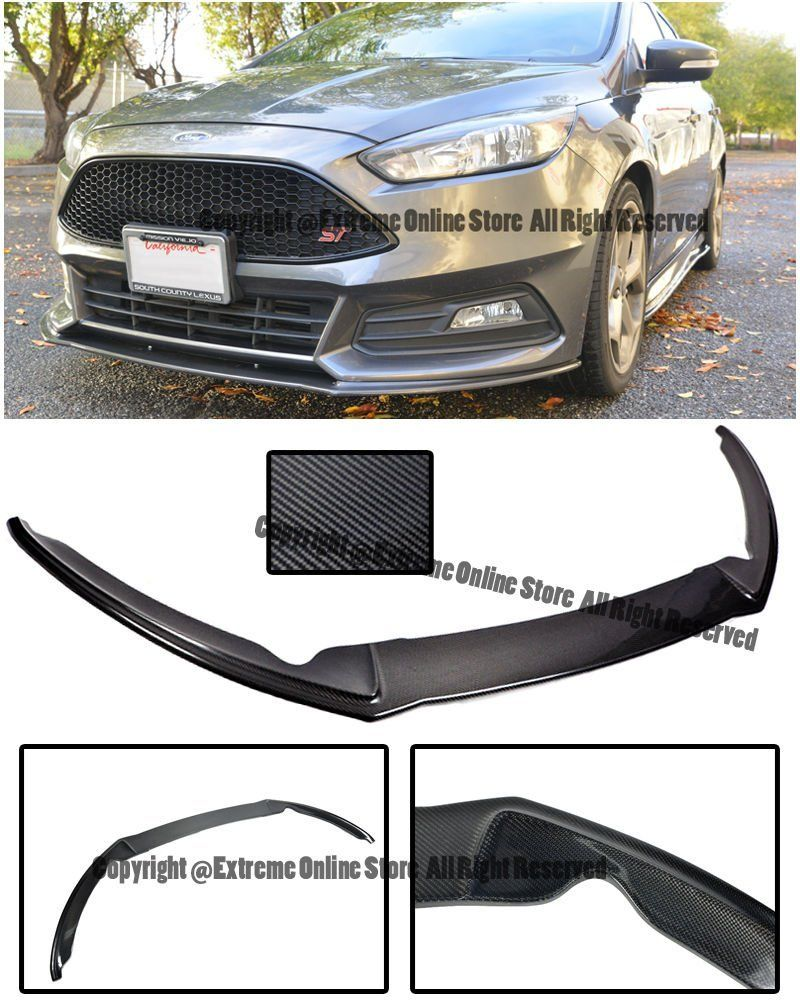Amazon Com For 15 Up Ford Focus St Mk3 5 Front Bumper Add On