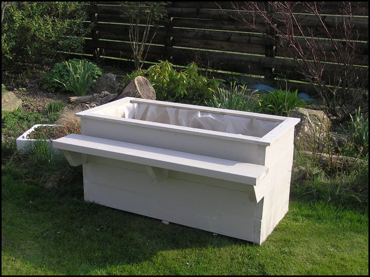 Bench with built in planter