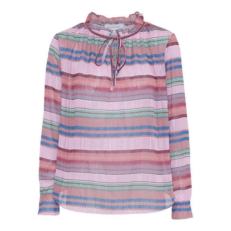 ed4b78625f3 Køb Continue Tanja Stripe Bluse Online på FashionDeluxe.dk. Fri fragt over  299kr,