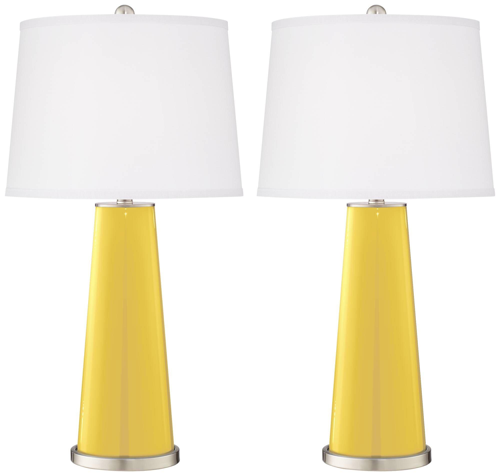 Lemon Zest Leo Table Lamp Set of 2 - #1R412-Y5337-9J641 | Lamps Plus