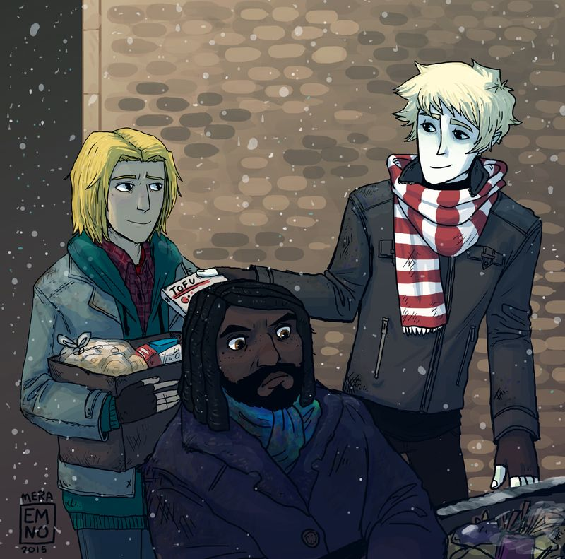 Magnus Chase and hobo friends by VikingMera on @DeviantArt