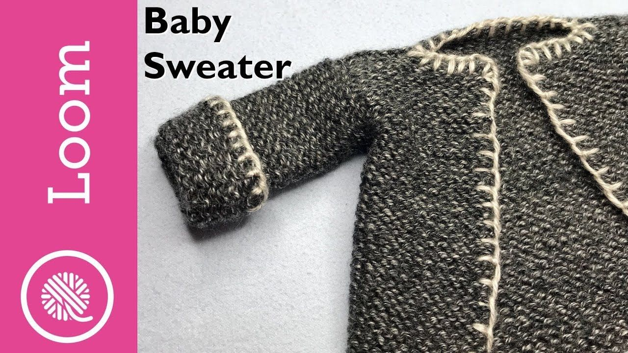 How to Loom Knit a Baby Sweater - YouTube (With images ...