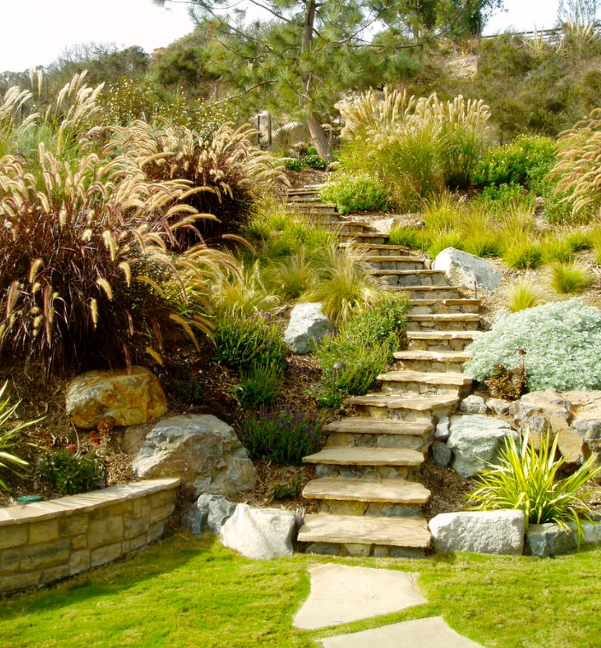 flagstone stairs gardens that rawk pinterest flagstone and