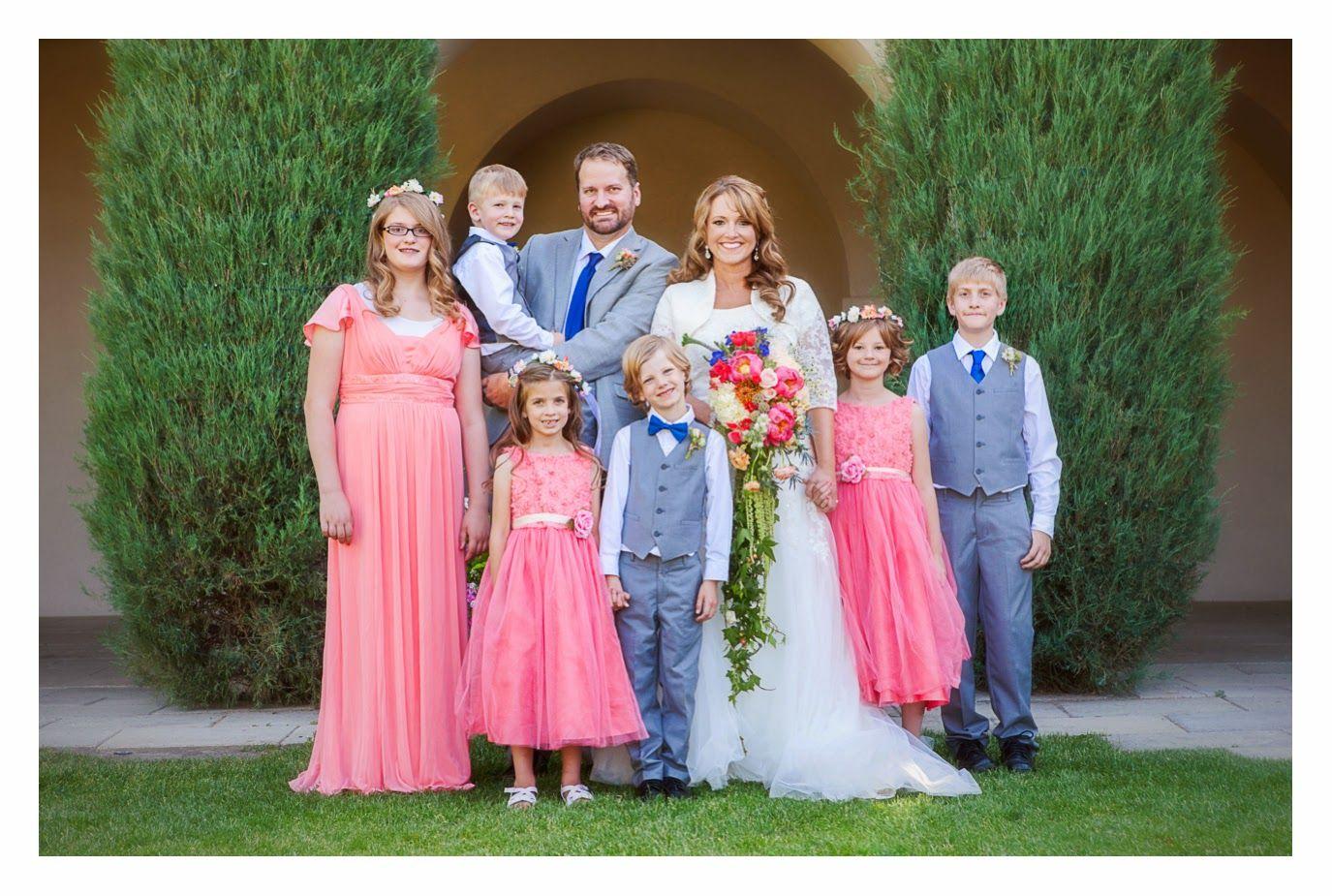 Photo by Nichole V Photography Thanksgiving Point Wedding #BradyBunch #blendedfamily  #wedding