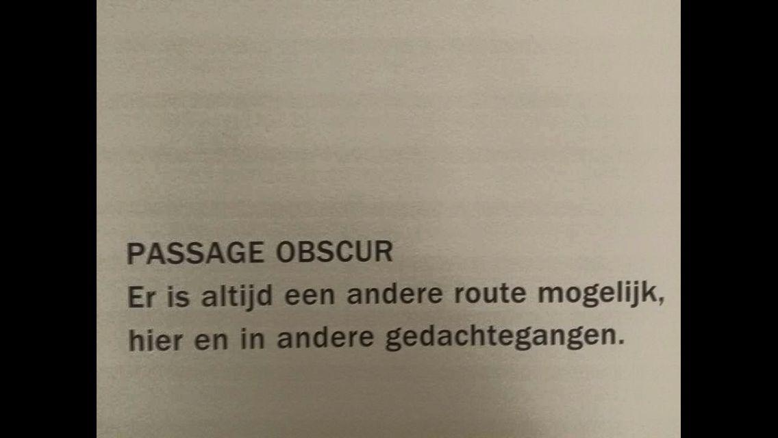 Passage obscur