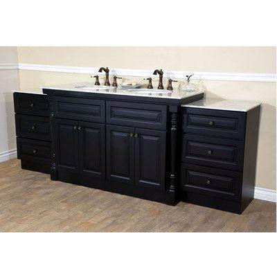 Picture Gallery For Website Bellaterra Home in Double sink Solid Wood Bathroom Vanity dark mahogany C