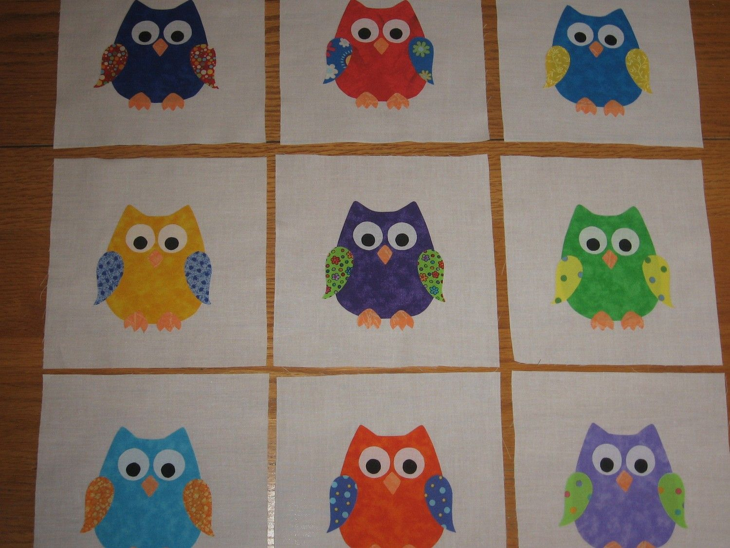 The edges of the appliques will have to be finished by you before ... : owl applique quilt pattern - Adamdwight.com