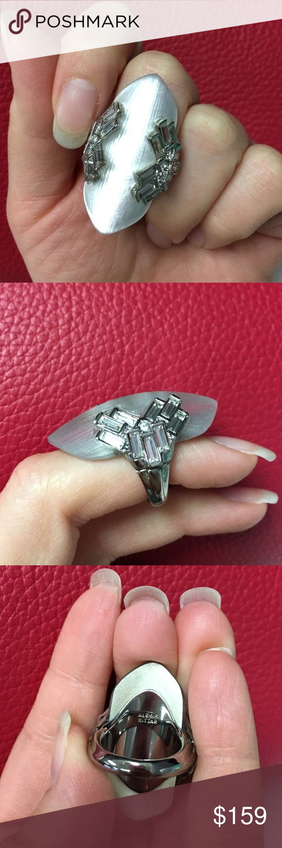 🆕NWOT Alexis Bittar Ring This ring would be awesome to mix and match. It's a grey almost frosted middle and baguette details on the side. Size 6, NWOT. Reasonable offers accepted with the offer button. Alexis Bittar Jewelry