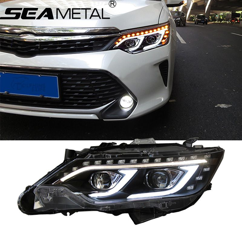 Car Headlight For Toyota Camry 2015 2016 Led Drl High Beam Light Reverse Light External Lights Head Lights Assembly Auto Car Headlights Camry 2015 Toyota Camry