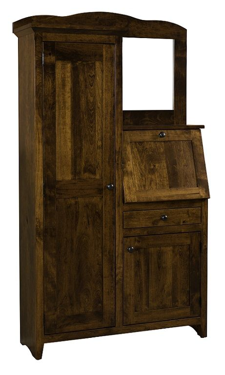 side by side with door in cherry wood is handmade by the amish your rh pinterest com