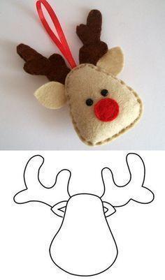 15 Moldes Enfeites de Natal em Feltro