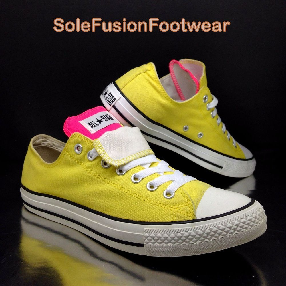 0af3f01e5009 Converse Mens All Star Low Trainers size 10 Pink Yellow Sneakers Womens US  12 44