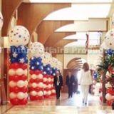 Patriotic Balloon Pillars