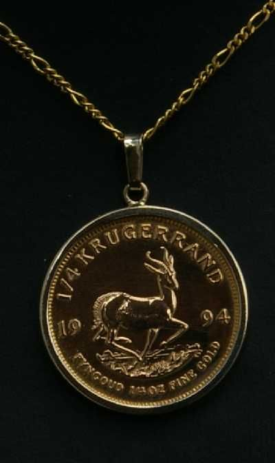 Krugerrand Necklace Fashion Jewels Gold Money Coins