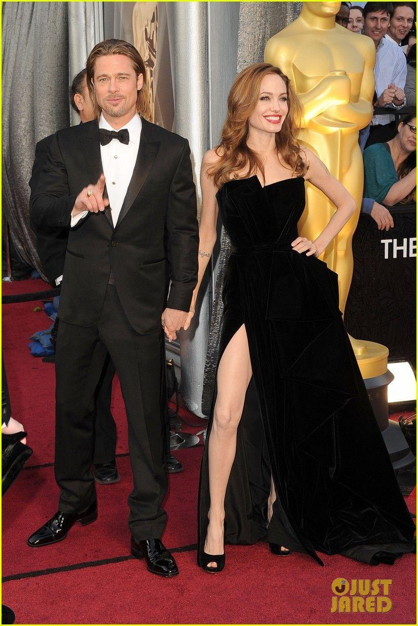 Brad Pitt Angelina Jolie Oscars 2012 Red Carpet Angelina Jolie Brad Pitt Oscars 2012 Red Carpet 0 Brad Pitt And Angelina Jolie Nice Dresses Oscar Fashion