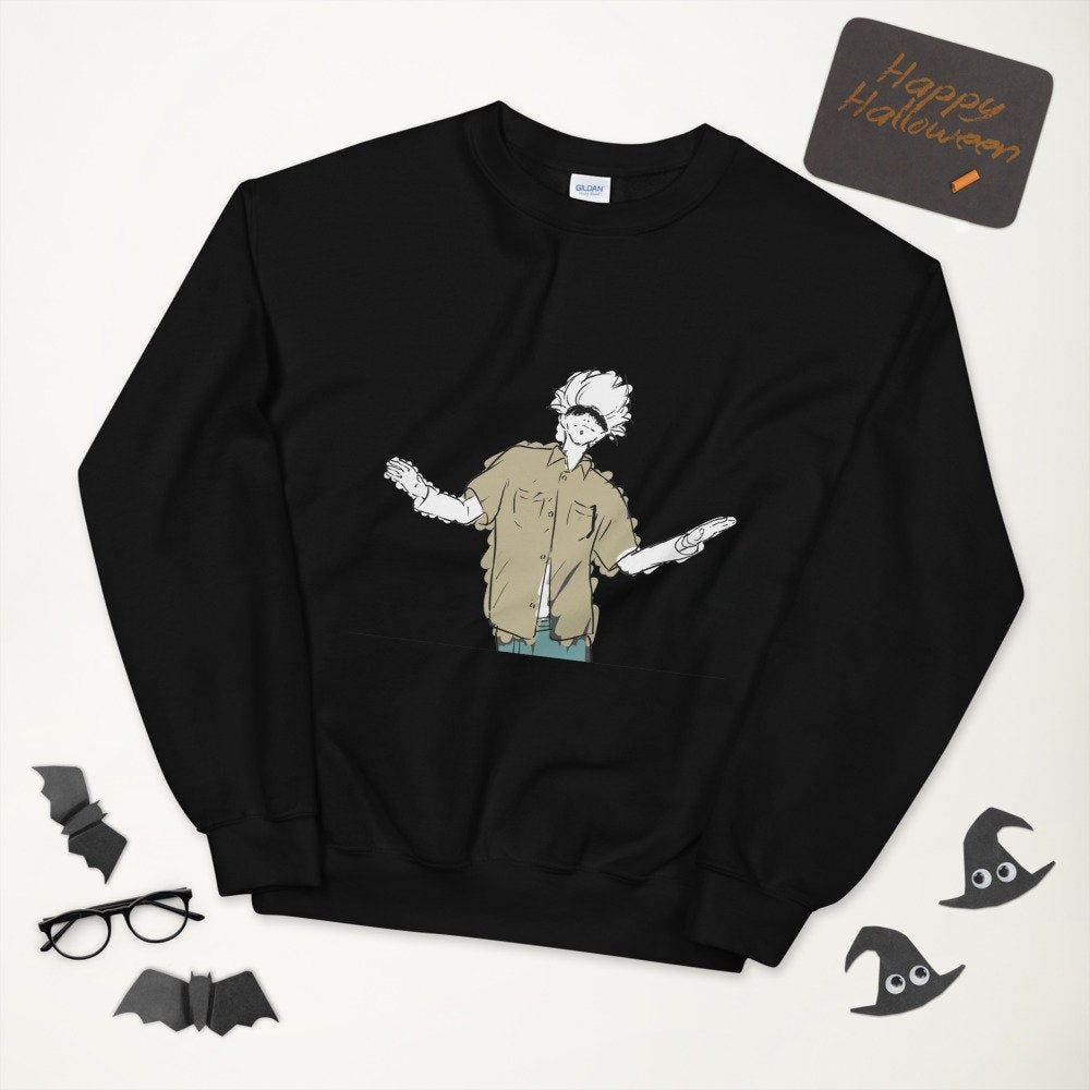 Satoru Gojo Jujutsu Kaisen Anime Ending Dance Sweatshirt By Baresty On Etsy In 2021 Sweatshirts Dance Sweatshirt Clothes