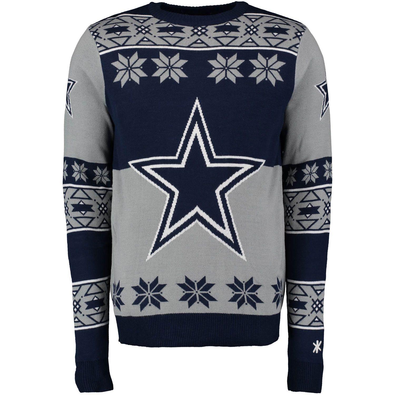Dallas Cowboys Klew Navy Big Logo Ugly Sweater  32f5c9c57