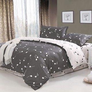 4 Piece Musical Note Comforter Sets Bedroom Bedding Sets Music