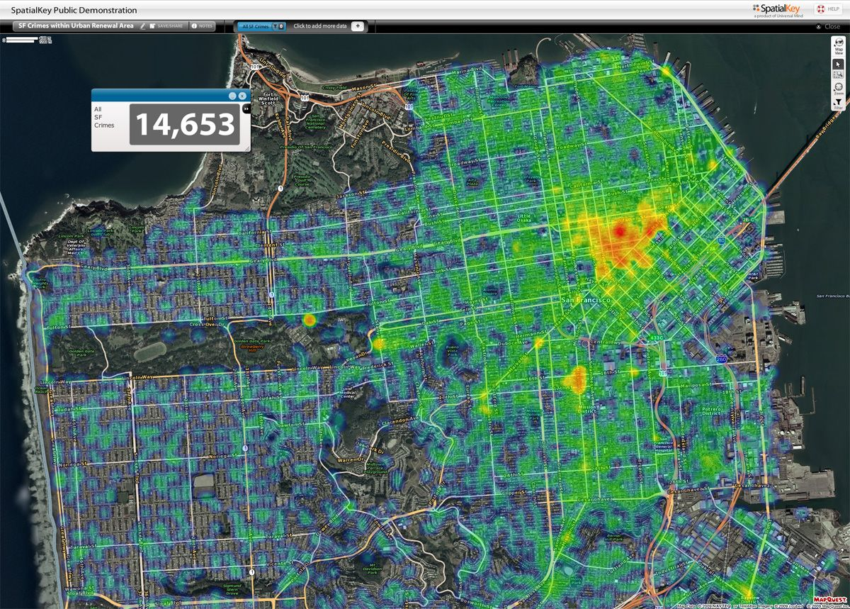 San Francisco Crime Map San Francisco Maps Pinterest San - Crime map nyc neighborhood