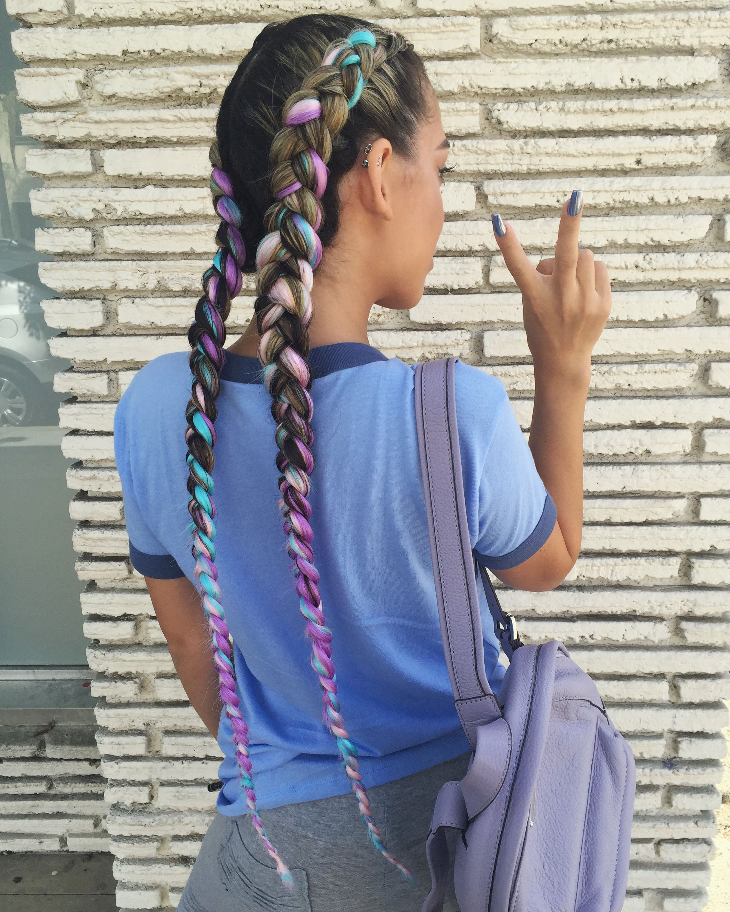 34+ Dutch braids with colored extensions inspirations