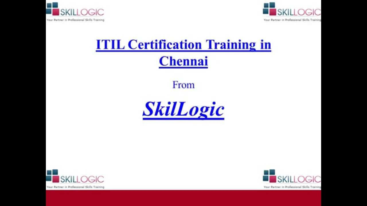 Skillogic Solutions Is Providing Best Itil Certification Training In