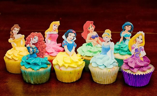 disney princess birthday cupcakes