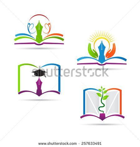 Education Book Logo Vector Design Represents School Education