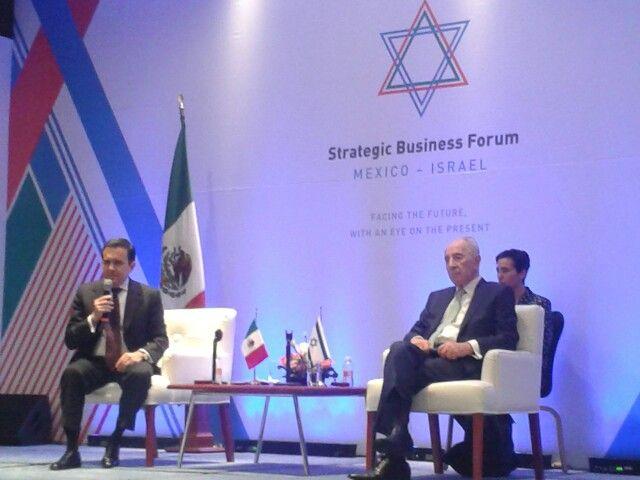 Shimon Peres e Ildefonso Guajardo @se_mx se reunen con empresarios israelies y mexicanos via @diario judio