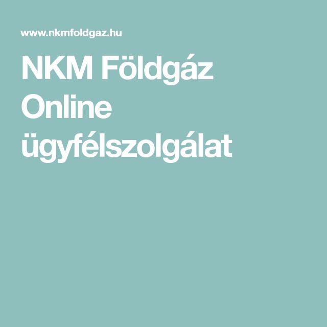 NKM Földgáz Online ügyfélszolgálat