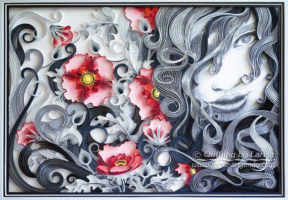 Original Paper Quilling Wall Art  das schöne von QuillingbyLarisa