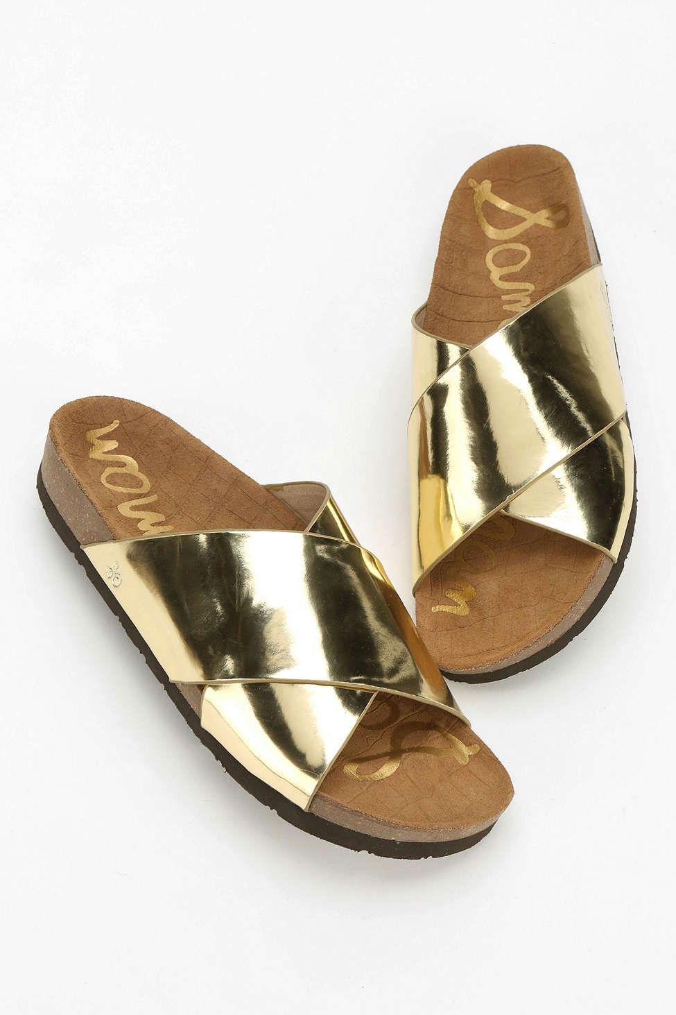 5176e77177e8 Sam Edelman Adora Metallic Slide Sandal - Urban Outfitters