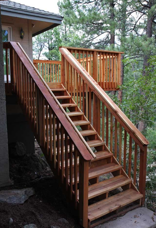 Best Wooden Deck With Graspable Handrail Deck Trex Deck 400 x 300