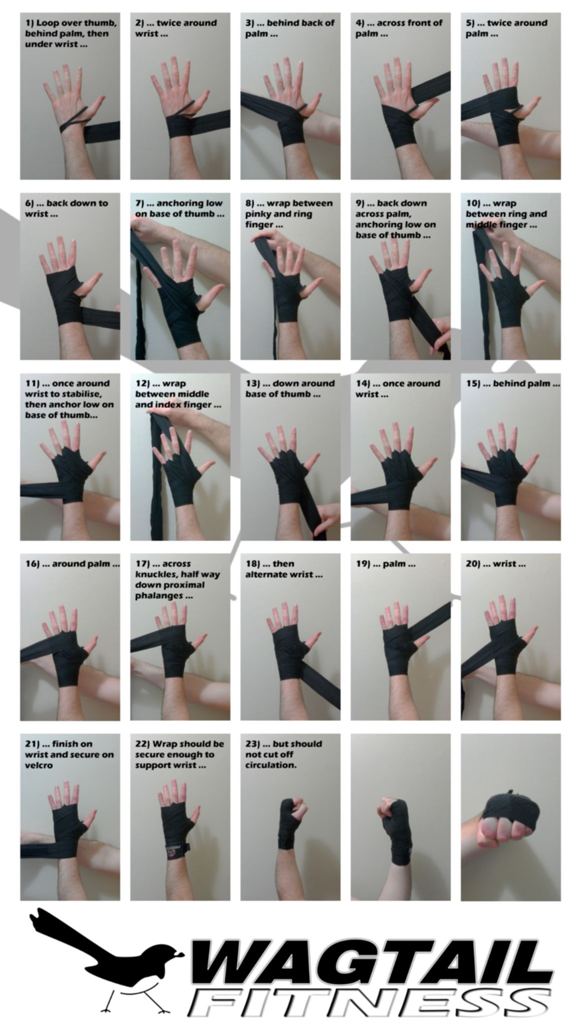 How To Wrap Your Hands For Boxing Wagtail Fitness Boxing Workout Martial Arts Boxing Hand Wraps