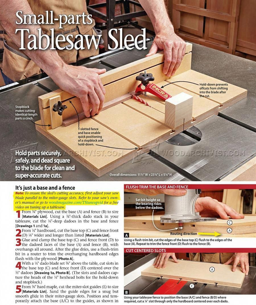 346 Small Parts Table Saw Sled Plans Table Saw Tips Jigs And Fixtures Modeltraintablediy Table Saw Sled Woodworking Table Saw