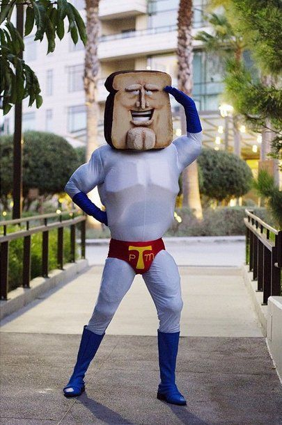 Nineties cartoon Ren and Stimpy may be over but Powdered Toast Man is still here to save the day! & 43 Insanely Creative Cosplays to Inspire You | Pinterest | Cosplay ...