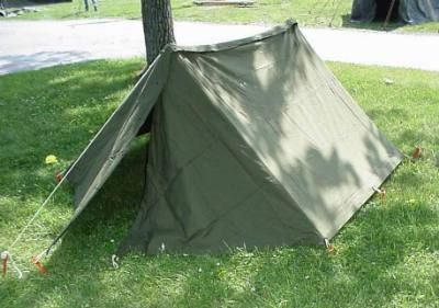 US Military Pup Tent 2 Half Shelter Systems Used & US Military Pup Tent 2 Half Shelter Systems Used | Camping Hacks ...