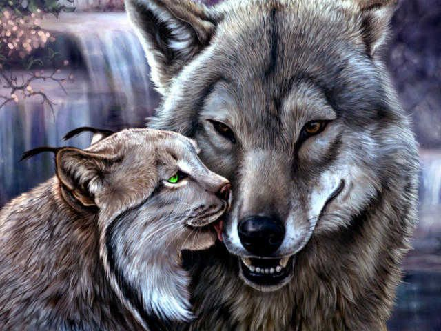 Gallery.ru / Фото #77 - волки в живописи - ninmix   Дикие ...