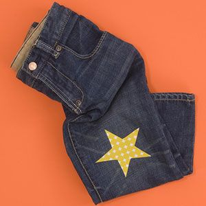 Patch old jeans with style!