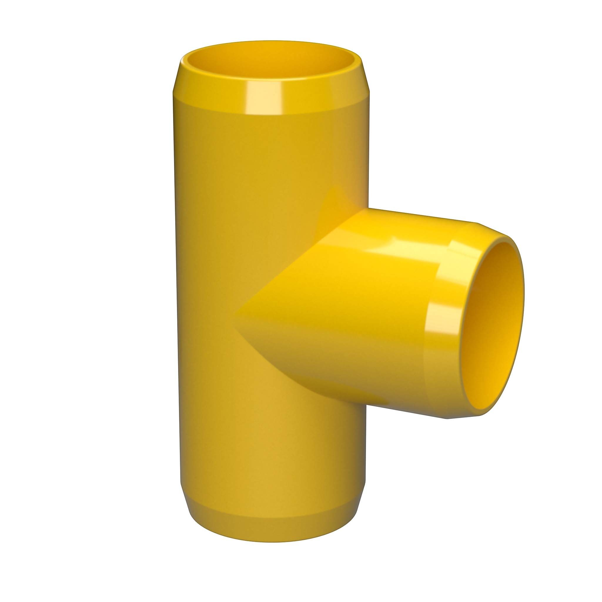 1 Size FORMUFIT F001TEE-YE-4 Tee PVC Fitting Furniture Grade Pack of 4 Yellow