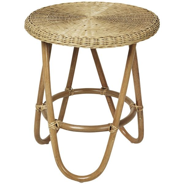 Broste Copenhagen Frida Rattan Side Table 185 Liked On Polyvore Featuring Home Furniture Tables Accent Tables Rattan Side Table Rattan Table Side Table