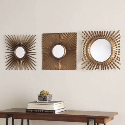 3 Piece Glam Mirror Set Mirror Decor Decor Mirror Wall Decor