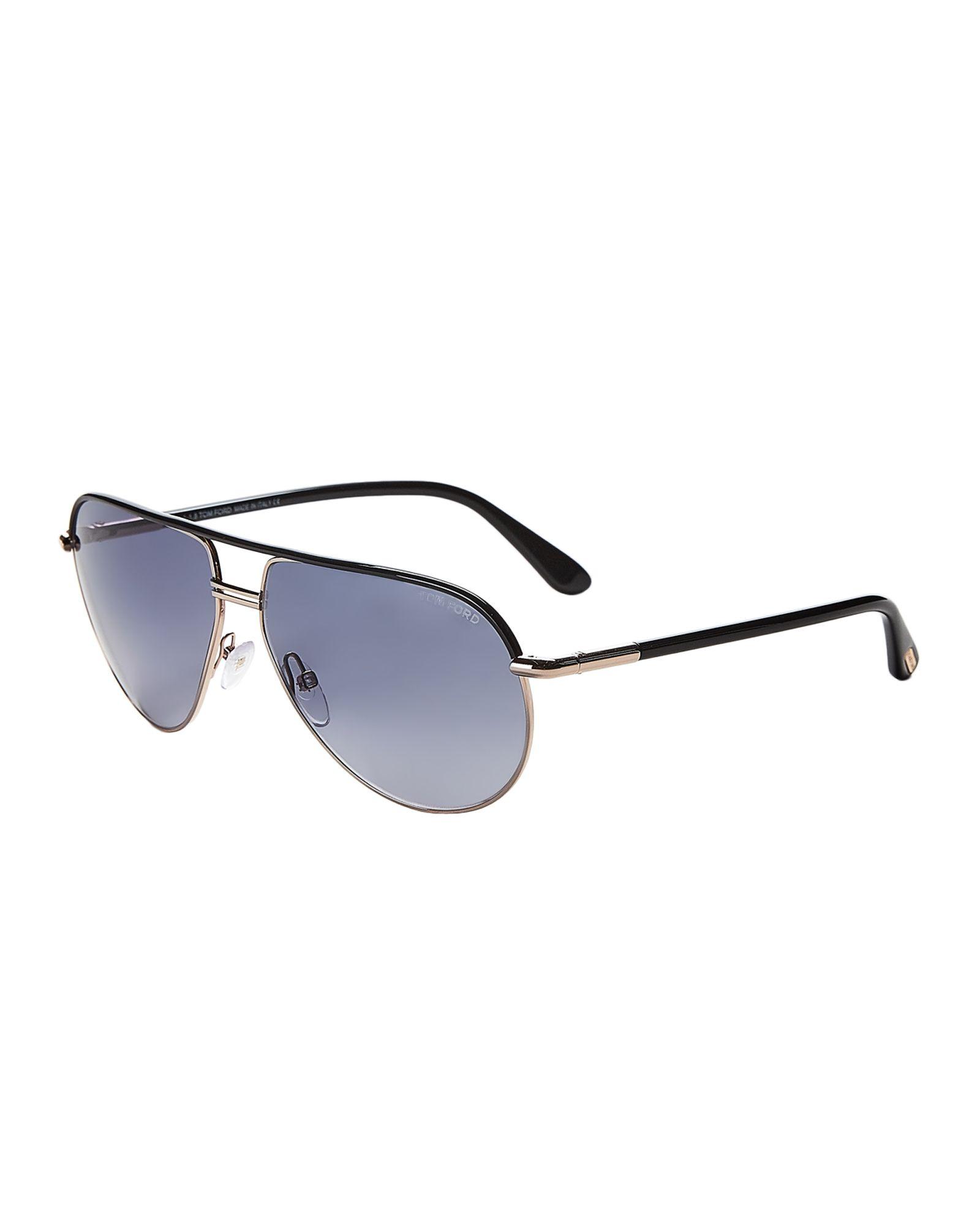 6e4b8317d5e Tom Ford TF285 Cole Black   Gold-Tone Aviator Sunglasses