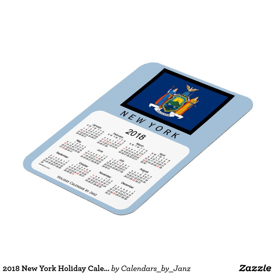 2018 New York Holiday Calendar By Janz Magnet Decorator S Touch