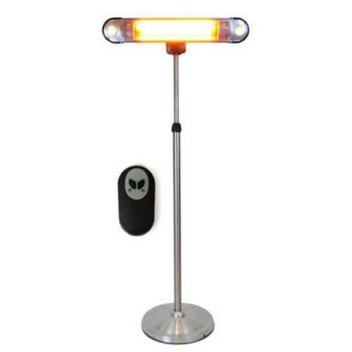 This Fully Portable Lava Heat Wall E Electric Patio Heater Features Wheels,  Built