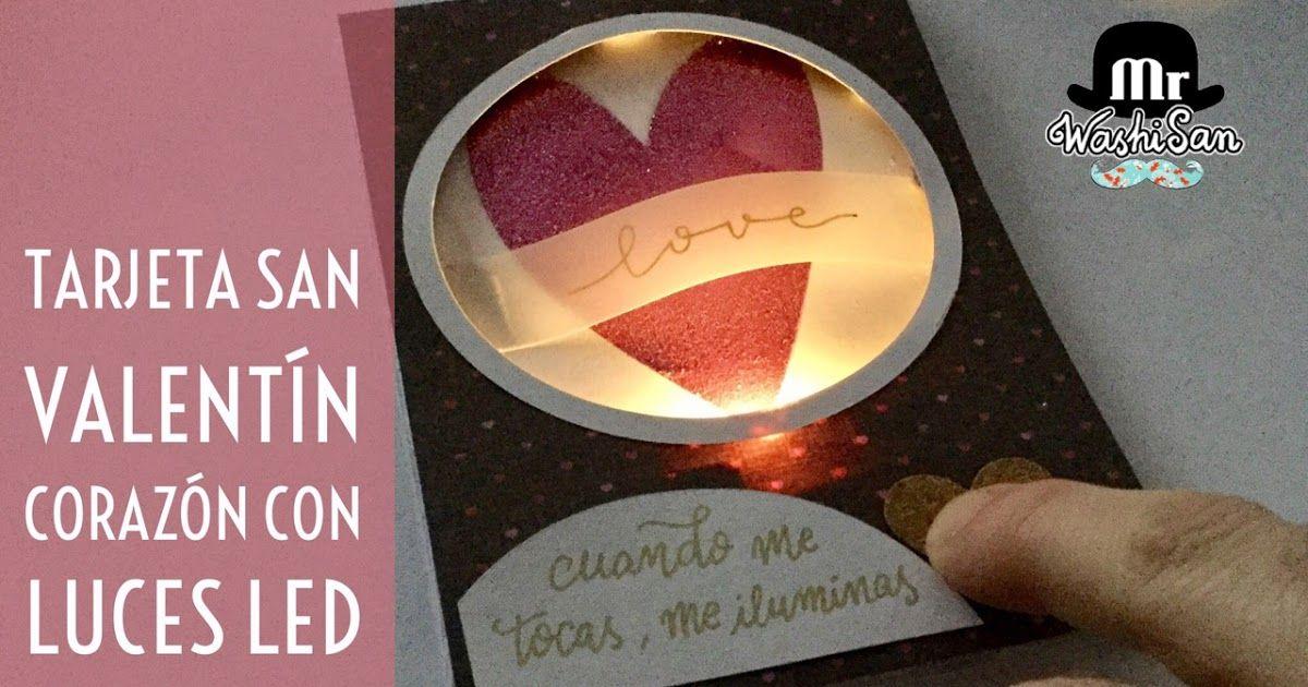 tutorial para confeccionar una tarjeta para San Valentín con un sistema de circuito electrónico con luces led y pulsador alternativa a los chibitronics, de forma muy económica y muy sorprendente. La tarjeta tiene una ventana con un corazón de purpurina que se ilumina cuando pulsas sobre un punto concreto de la tarjeta.