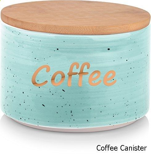 Coffee Canister Uno Casa Coffee Tea Sugar Canister Set In Ceramic 3 Piece Stackable Set With