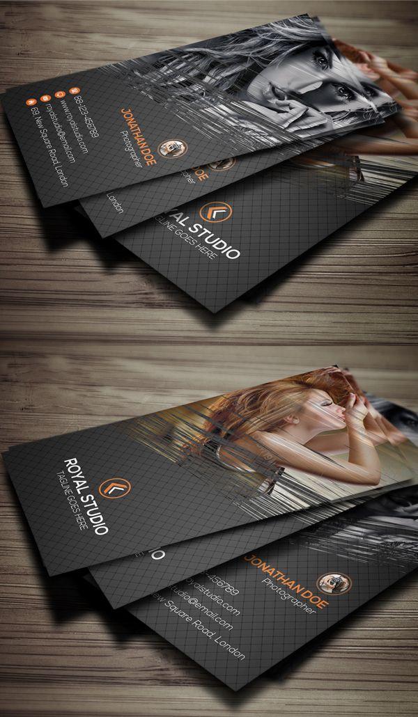 Photography business card businesscards psdtemplate printready modern business card psd templates design reheart Choice Image